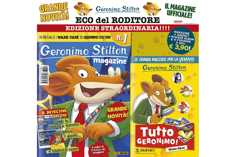 GERONIMO STILTON NEW MAGAZINE AND STICKER ALBUM