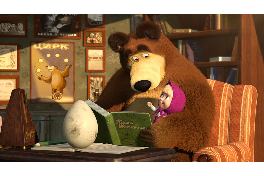 Masha And The Bear Reels In Viewers On Big And Small Screens!