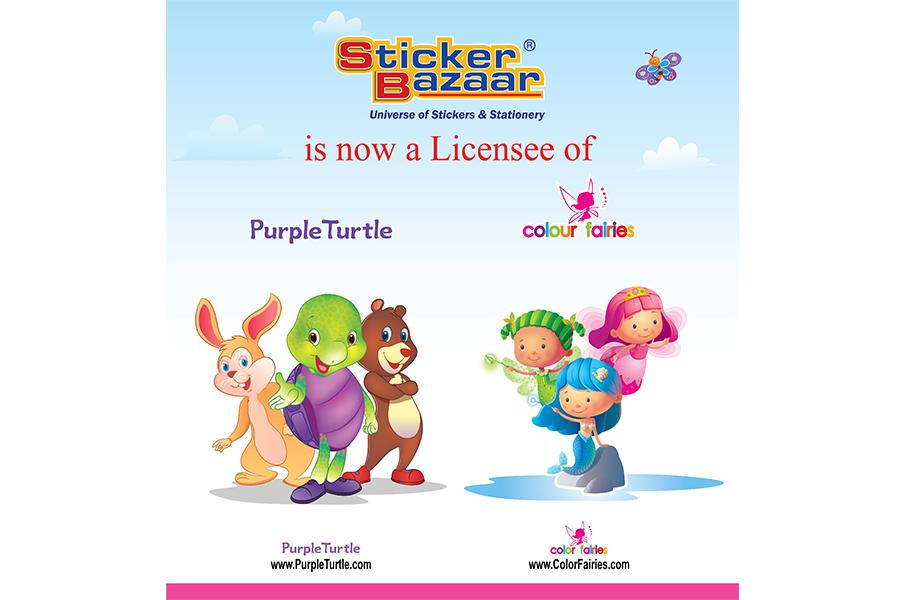 Sticker Bazaar lancerà stickers, articoli da regalo e cancelleria di Purple Turtle