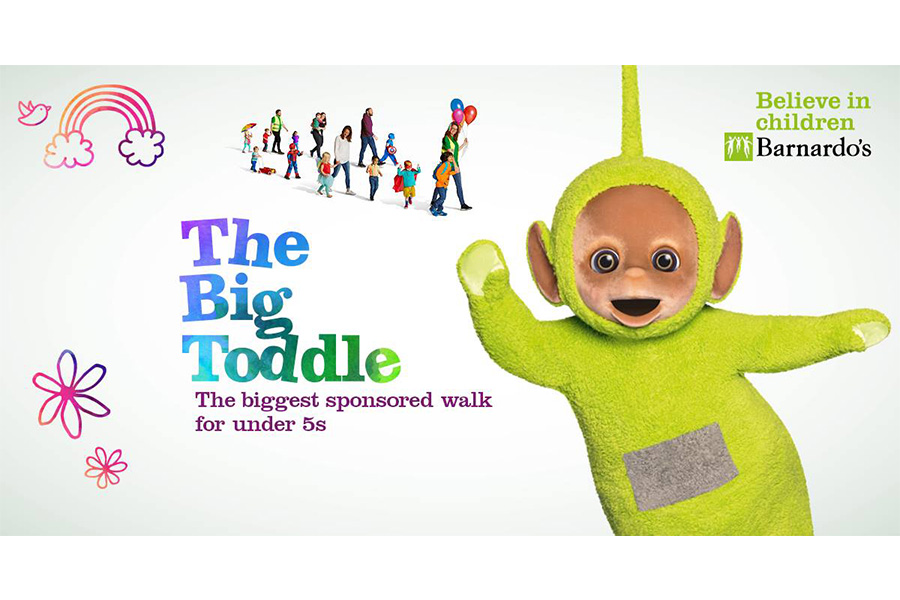 TELETUBBIES JOINS THOUSANDS OF PRE-SCHOOLERS TODDLING FOR BARNARDO'S