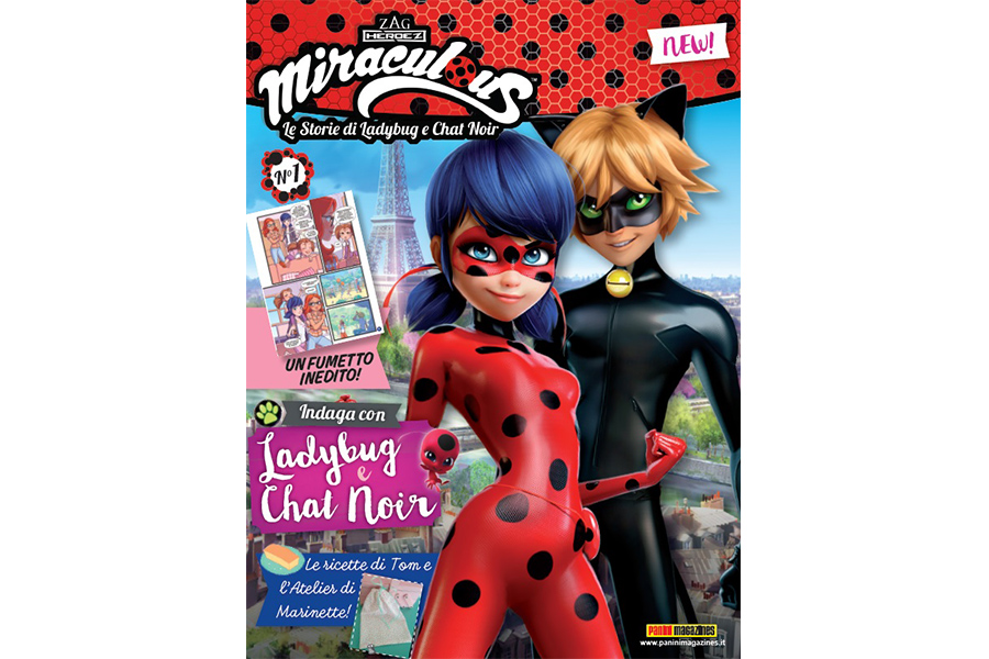The official magazine of Miraculous on the Italian newsstand