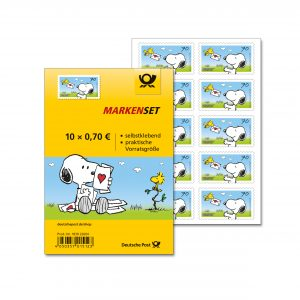 The PEANUTS Program Of German Postal Service Features In Addition To Stamps Also A Collectable Presentation Sheet Both Set Decorated