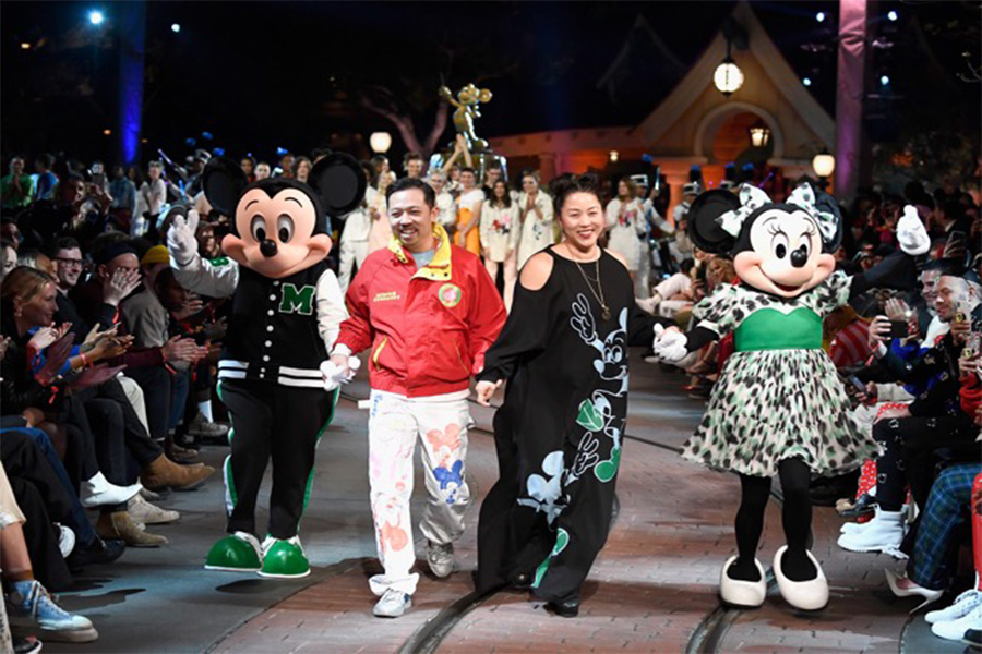Opening Ceremony parades at Disneyland and presenting the Mickey Mouse inspired collection