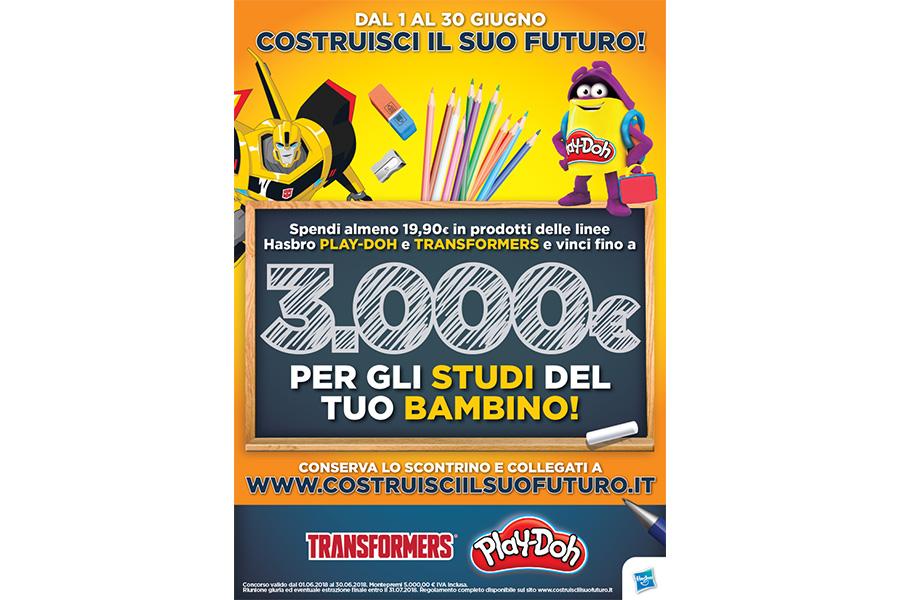 """Hasbro promuove la formazione dei bambini con l'iniziativa """"Costruisci il suo futuro"""""""