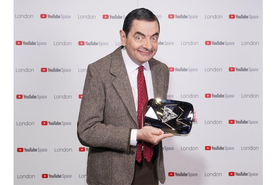Mr Bean awarded prestigious YouTube Diamond Play Button