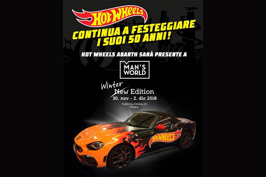 Hot Wheels Abarth sfreccia verso Man's World!