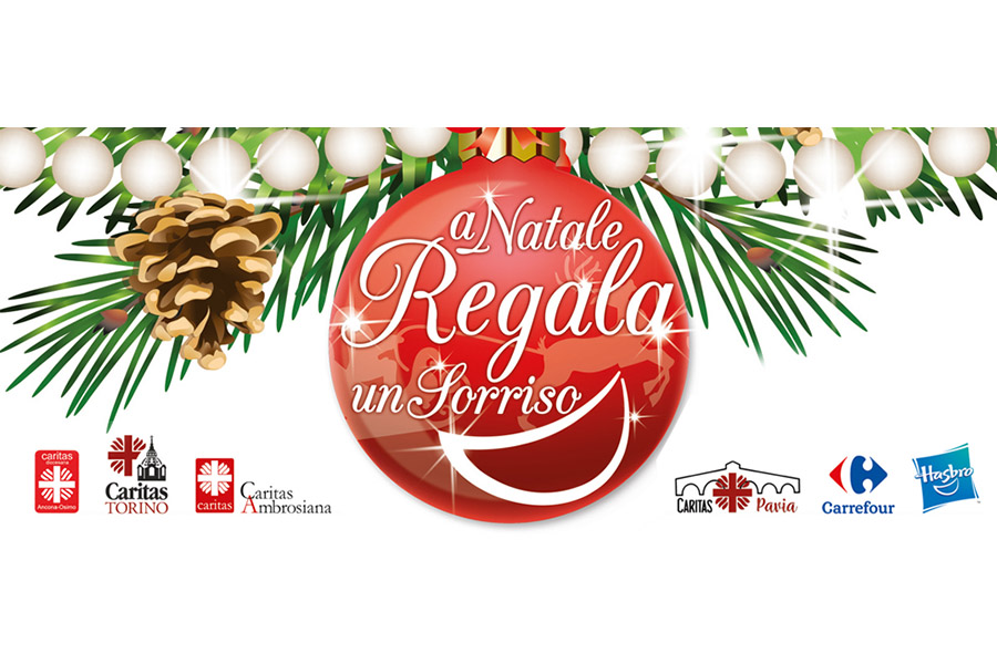 "Carrefour Italia, Caritas and Hasbro together for the ""Give a toy"" initiative at Christmas time"