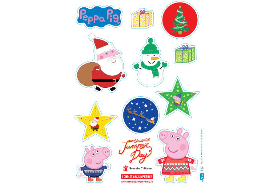 Peppa Pig festeggia il Christmas Jumper Day con Save the Children