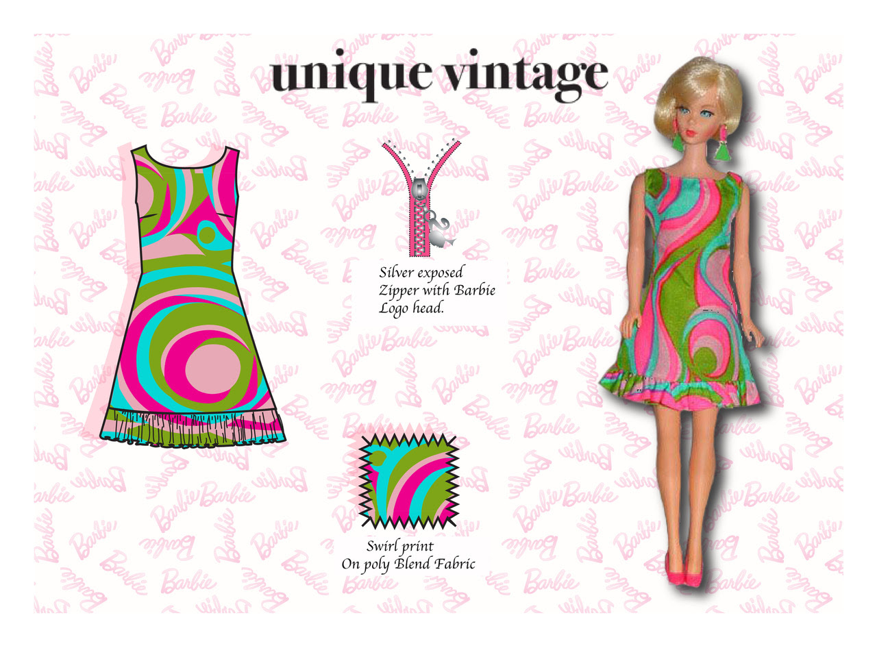 Unique Vintage recreates 12 of Barbie's most iconic fashion