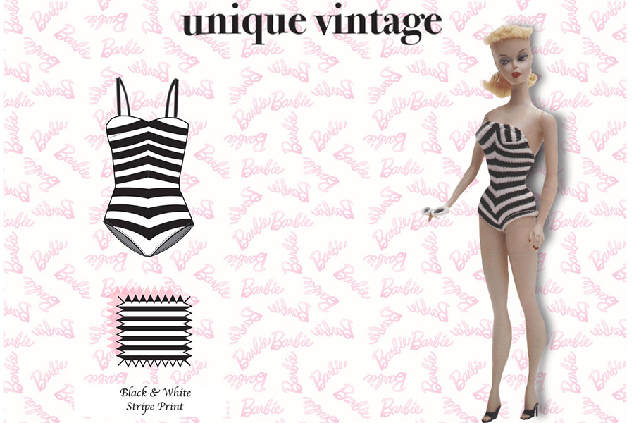Unique Vintage recreates 12 of Barbie's most iconic fashion looks timed to her 60th anniversary
