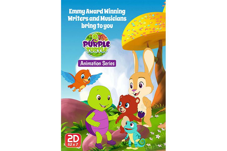 Cyber Group Studios, Aadarsh Pvt Ltd, Telegael together for the new preschool series 'Purple Turtle'