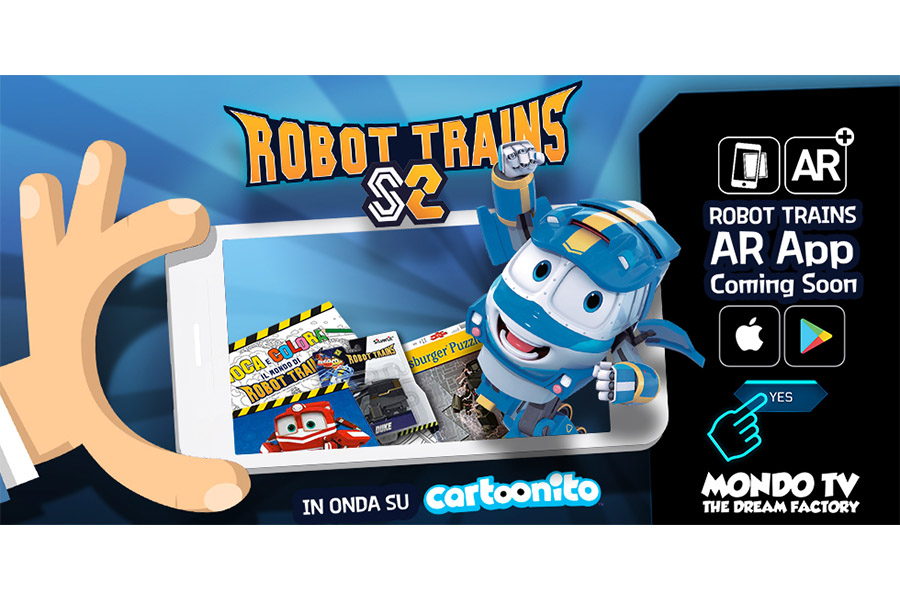 Mondo TV announces amazing and innovative new Robot Trains AR app
