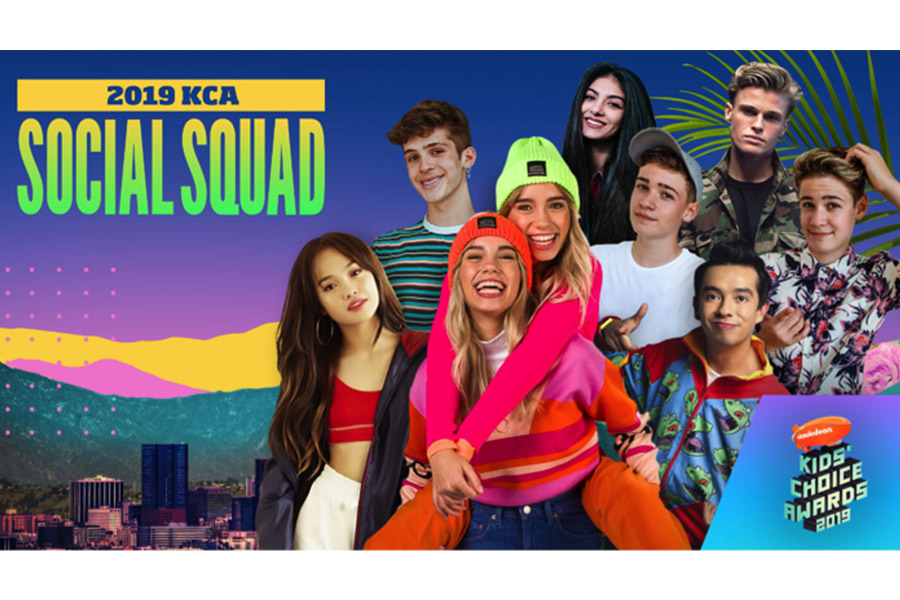 "Nickelodeon annuncia la ""Social Squad"" internazionale per i Kids' Choice Awards 2019"