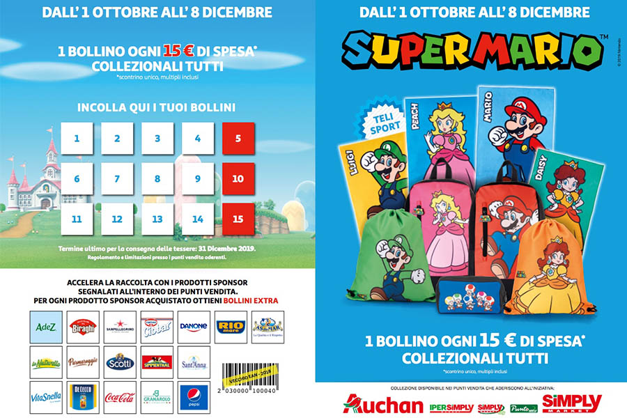 NINTENDO AND SUPER MARIO INTO AUCHAN AND SIMPLY