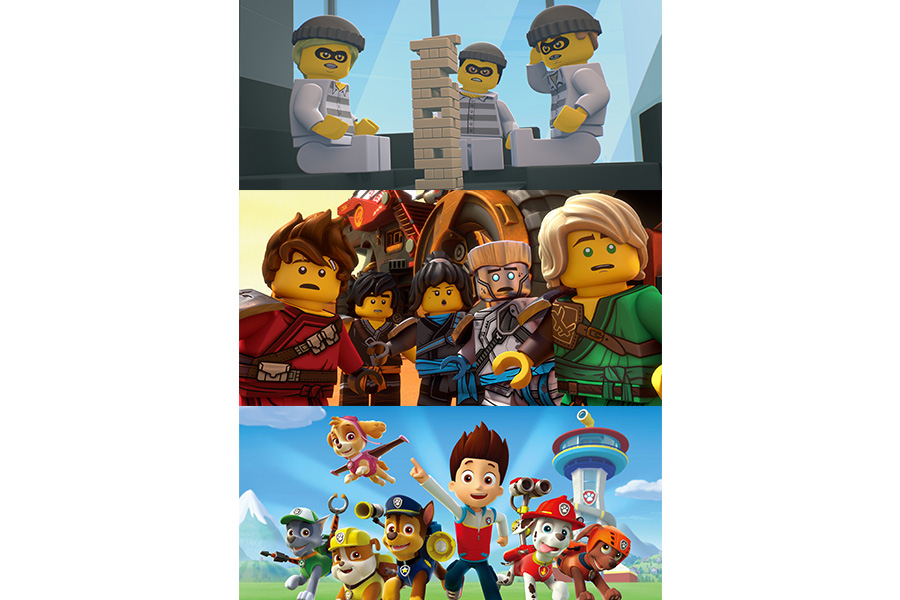 NOW AVAILABLE AS AUDIO CONTENT PAW PATROL AND LEGO®