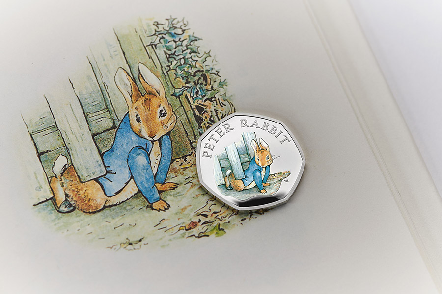 PETER RABBIT BACK ONTO ROYAL MINT UK