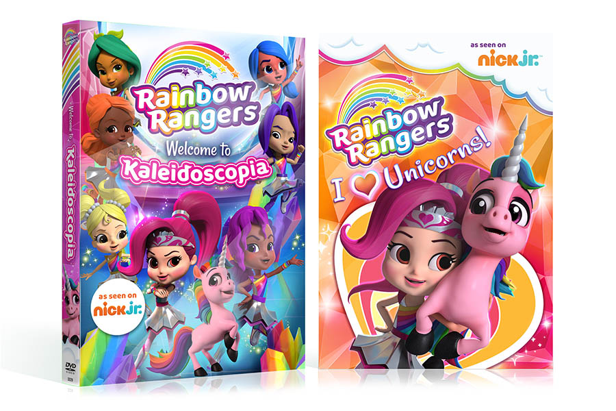 THE FIRST TWO RAINBOW RANGERS DVDS