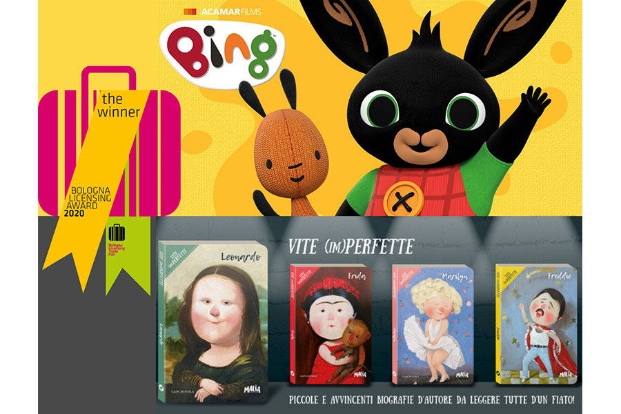 BING AND GAPCHINSKA AWARDED AT BOLOGNA LICENSING AWARDS
