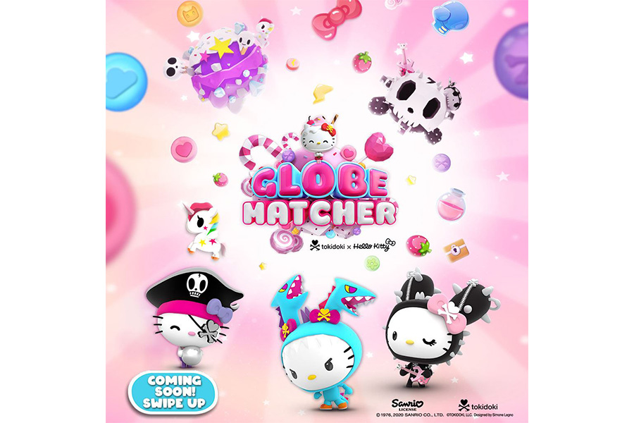 GLOBEMATCHER FEAT. TOKIDOKI X HELLO KITTY