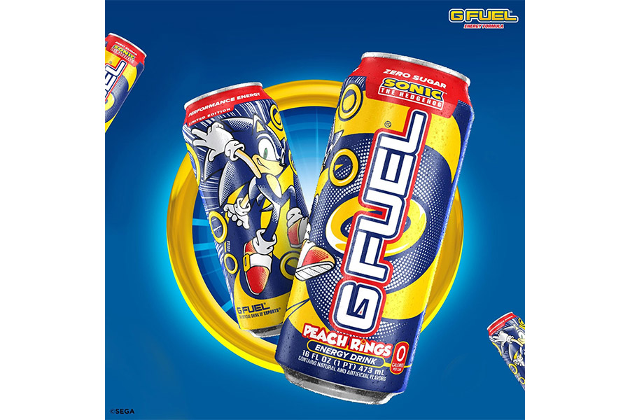 G FUEL AND SEGA TEAM UP TO CREATE A SONIC ENERGY DRINK