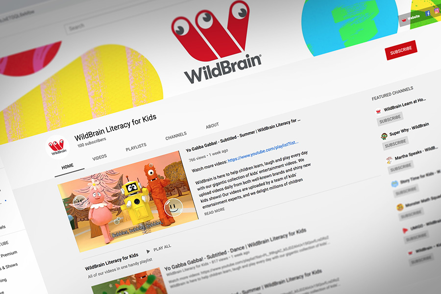 WILDBRAIN SPARK HAS LAUNCHED A DEDICATED CHANNEL FOR CHILDREN'S LITERACY