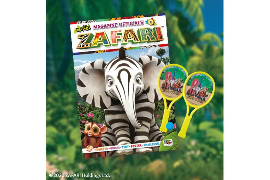 PON PON EDIZIONI PUBLISHES THE FIRST OFFICIAL MAGAZINE OF ZAFARI