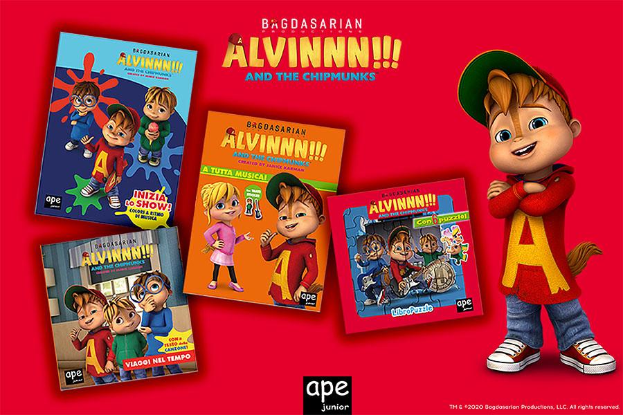 NUOVA COLLANA DI LIBRI DELLA SERIE ALVINNN!!! AND THE CHIPMUNKS