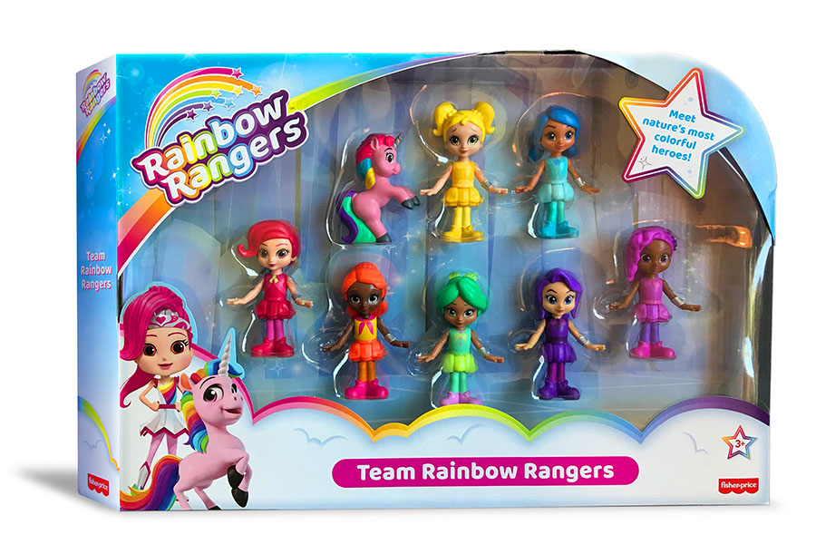 RAINBOW RANGERS TOYS FROM MATTEL'S FISHER-PRICE DEBUTS AT WALMART STORES
