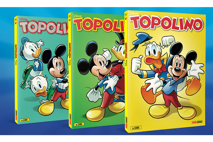 TOPOLINO C'È! AVAILABLE IN THREE DIFFERENT COLLECTION COVERS