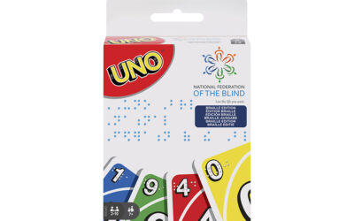 "MATTEL PRESENTS ""UNO"" OFFICIAL PLAYING CARDS IN BRAILLE"