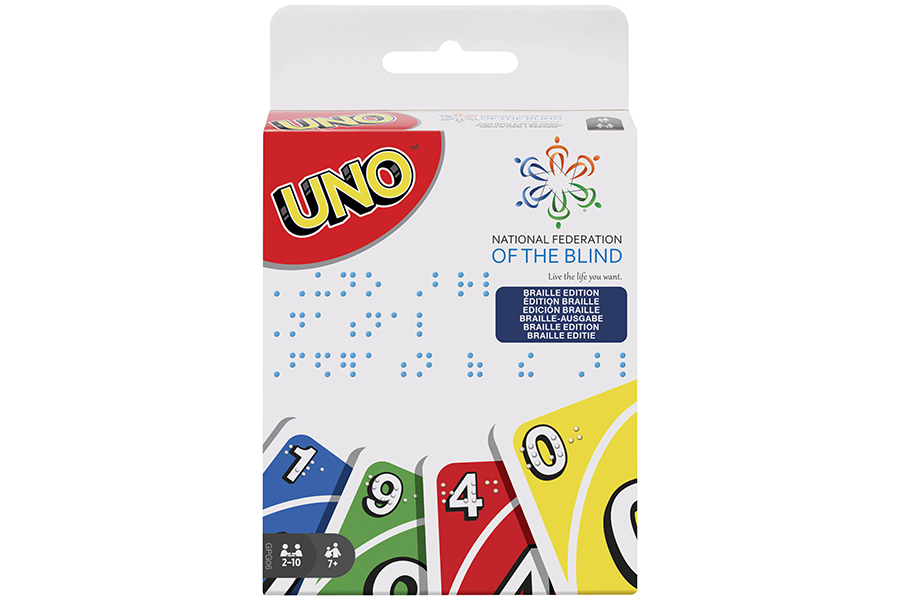 """MATTEL PRESENTS """"UNO"""" OFFICIAL PLAYING CARDS IN BRAILLE"""