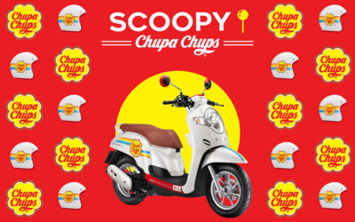 SCOOPY I X CHUPA CHUPS: A LOLLIPOP ON WHEELS!