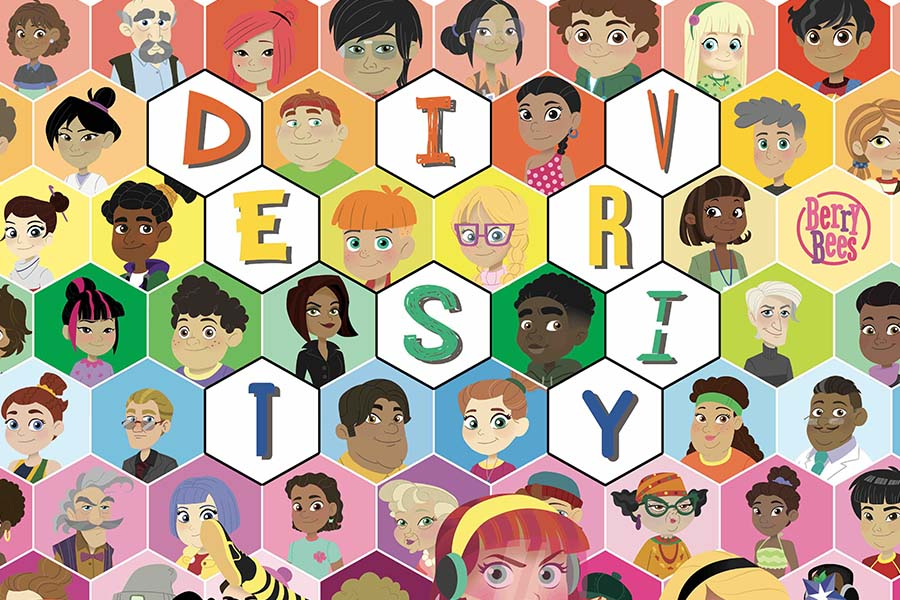 BERRY BEES AS BEST KIDS SERIES OF THE YEAR AT THE DIVERSITY MEDIA AWARDS