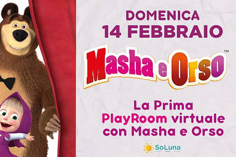MAURIZIO DISTEFANO LICENSING APPOINTS SOLUNA EVENTI FOR DIGITAL AND PHYSICAL ACTIVITIES TO PUBLIC WITH MASHA AND THE BEAR