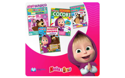 Masha and the Bear starring the new albums by Edizioni Play Press