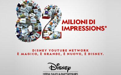 DISNEY MEDIA SALES & PARTNERSHIP ITALIA LAUNCHES THE YOUTUBE DISNEY NETWORK