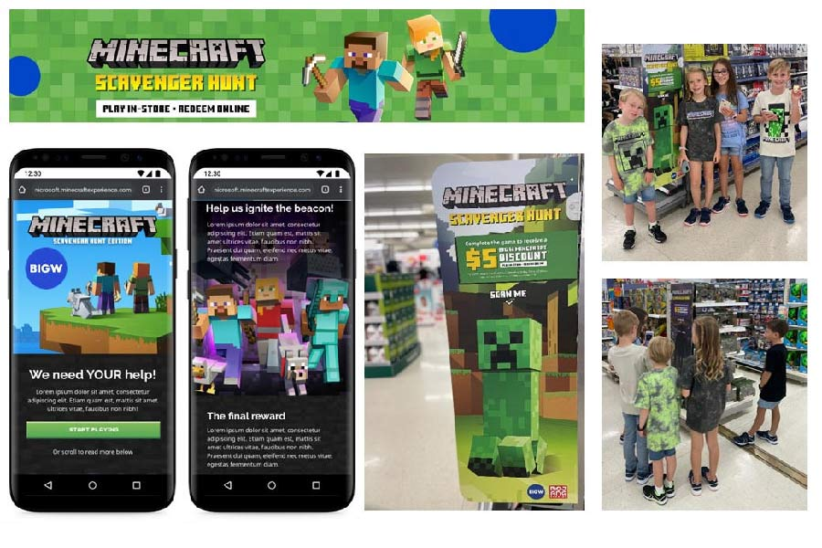AUSTRALIA'S WORLD FIRST IN-STORE MINECRAFT SCAVENGER HUNT A HIT WITH FANS AT BIG W STORES