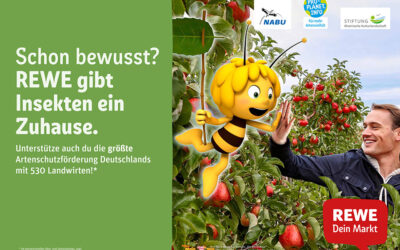 REWE GIVES INSECTS A HOME – MAYA THE BEE AS BRAND AMBASSADOR