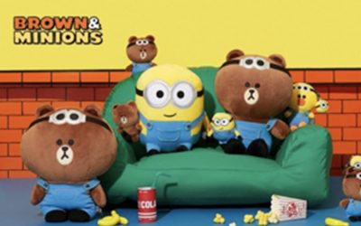 """LINE FRIENDS AND ILLUMINATION'S MINIONS TEAM UP FOR""""MINIONS X BROWN & FRIENDS"""" COLLECTION"""