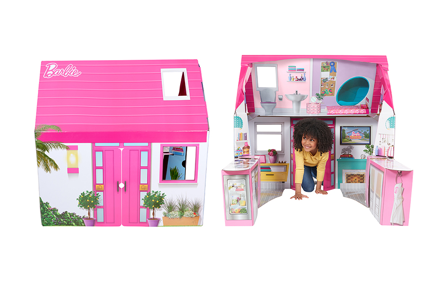 WOWWEE ADSS BARBIE DREAM PLAYHOUSE TO ITS LINE OF POP2PLAY FOLDABLE PLAYSETS