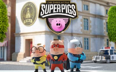 JEZ HALL JOINS THE THREE LITTLE SUPERPIGS, THE NEW ORIGINAL ANIMATED SERIES FROM PLANETA JUNIOR AND FOURTH WALL