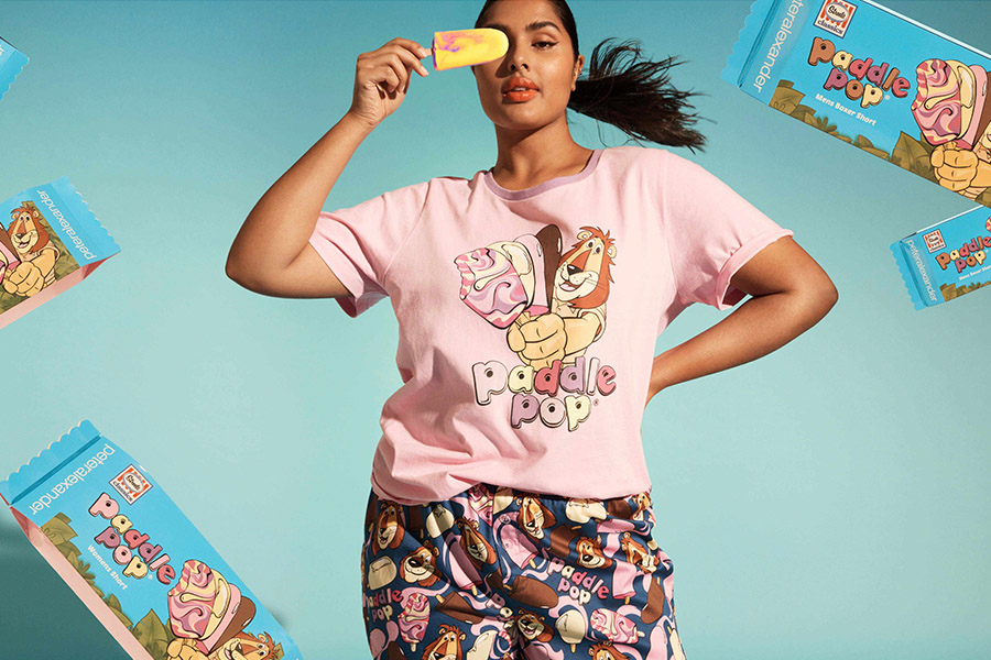 ASEMBL PARTNERS UP STREETS' PADDLE POP ICE-CREAM WITH ICONIC SLEEPWEAR DESIGNER PETER ALEXANDER